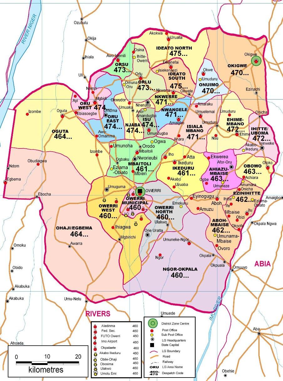 Owerri Town Area Zip Codes