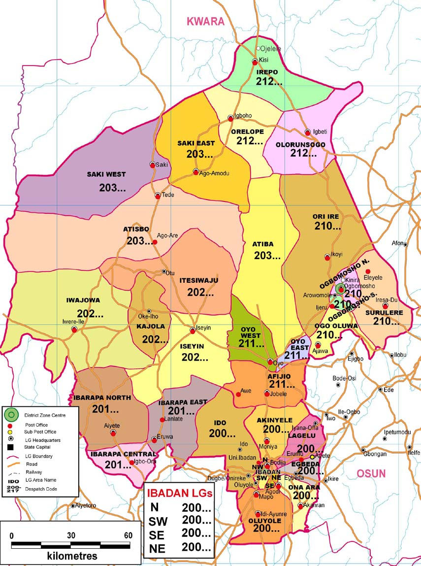 Oyo State Zip Code Map
