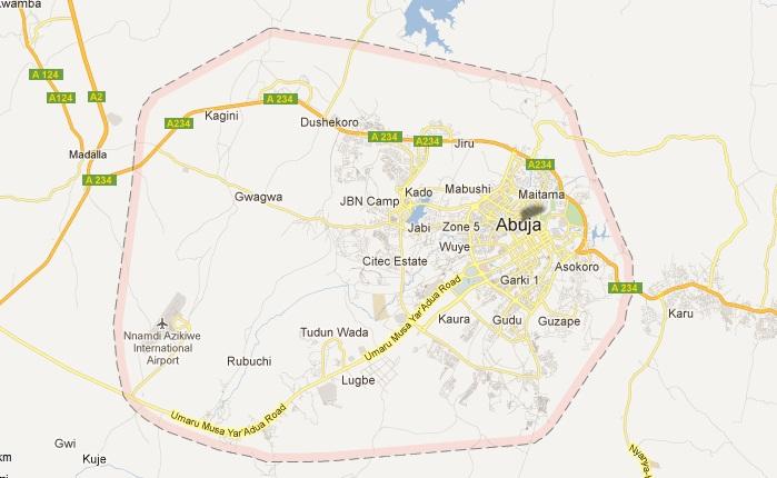 Abuja ( F.C.T ) Map